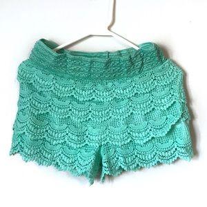 Lacy, layered shorts